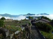 果無集落の雲海