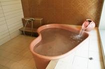ハートの貸切専用風呂