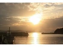 阿那賀港からの夕景