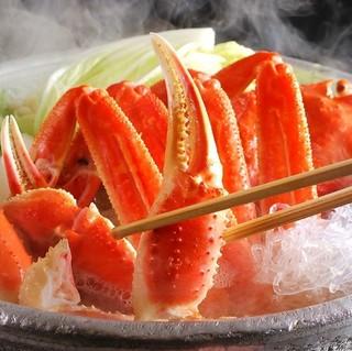 【春〜秋】真のカニ好きに贈るカニプラン!北洋産ズワイガニ×特選刺身盛り合わせ<茜>