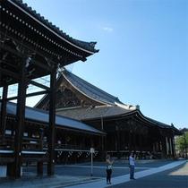 【西本願寺】世界遺産「西本願寺」からの鐘の音が聞こえてきます。