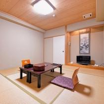 和室一例。西本願寺がご覧いただけるお部屋も。ご指定はいただけません。