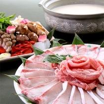 ブリと豚のしゃぶしゃぶ鍋(一例)
