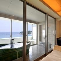 露天風呂付客室ABCタイプ浴室一例