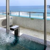 露天風呂付客室「浜水晶・特別室」藤の晶 浴室
