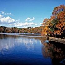 秋の一碧湖
