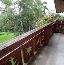 スタンダードツイン・ガーデンビュー、 バルコニーから庭の眺め
