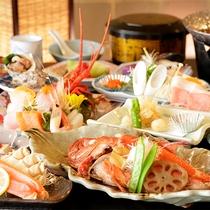 【夕食】季節の会席料理 一例(贅沢アワビ無し)