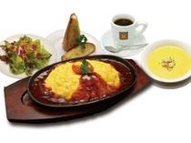 鉄板チーズオムライスセット