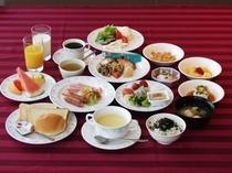 和洋約30種類の朝食バイキング