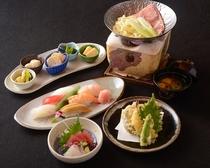 料理長自慢のお鍋・お寿司のセット