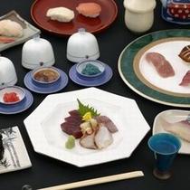 【料理】姉妹館・花兆庵1階すし兆でのすし会席〜新鮮な日本海の幸を〜