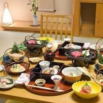 【料理】夕食は、ゆったりと部屋食
