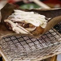 【料理】朝食朴葉味噌
