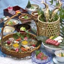 【料理】郷土料理・夏のうまいもの膳は、見た目も涼やか〜