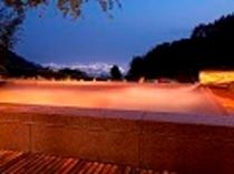 絶景夜景の露天風呂