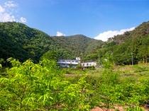 要害山と全景