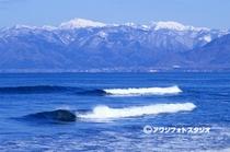 日本海と白神岳