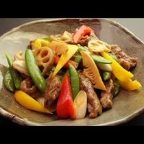 季節の野菜と牛肉炒めR