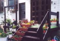 玄関先の花壇