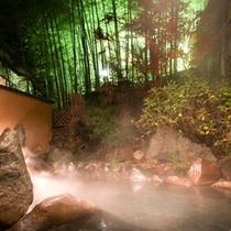 【露天風呂/竹林の湯】静かな竹林に佇む露天風呂