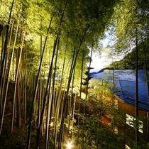 竹林ライトアップと施設