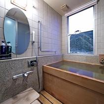 ★眺望風呂付特別和室の木曽檜風呂