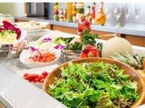 朝食サラダバー         女性に人気のサラダバー!朝から野菜でリフレッシュ