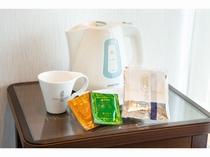 【全客室標準装備】       コーヒーや緑茶をご用意致しました
