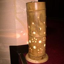 *竹ランプ