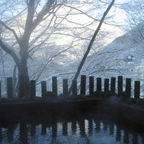 *露天風呂・冬
