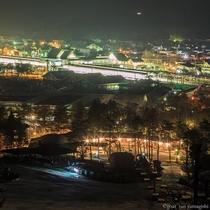 スキー イメージ 夜