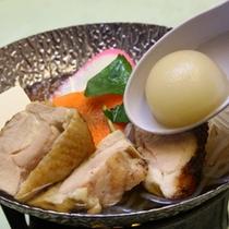 チョイスプランの「コラーゲンボール入り地鶏鍋」女性におすすめ!