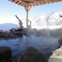 【空の湯~ままらく~】谷川連邦を望む最上階の展望浴場