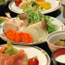 *夕食(セット+ミニビュッフェ)