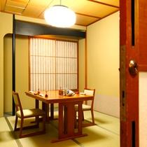 【施設】料亭個室(一例・テーブル席)