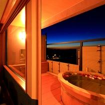 【2015年6月新装】露天風呂付客室 客室から露天風呂