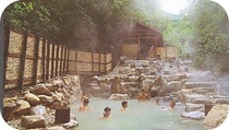 蔵王温泉名所「大露天風呂」