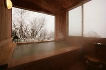 貸切風呂「木の香の湯」冬