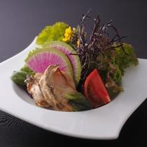 かきの唐揚サラダ