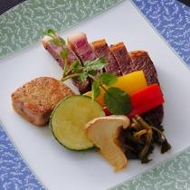 広島牛ステーキとフォアグラのソテー
