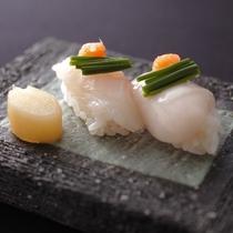 河豚のちり寿司と白子寿司