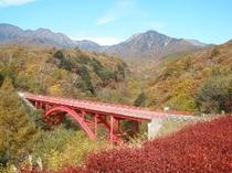 東沢大橋の紅葉