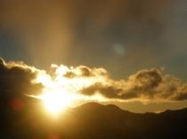 飯盛山での日の出