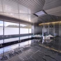 *大浴場/約800年に渡る歴史を誇る湯田温泉郷。滑らかな泉質が肌をやさしく包みます。