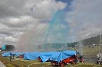 秋祭り 消防演習・放水訓練
