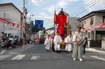 秋祭り 軽米町指定文化財 猿田彦命(天狗)立像