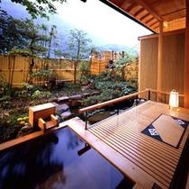 *【客室露天風呂 一例】大自然の開放的な眺めを独り占め♪