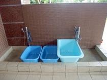 ダイビング機材用洗い場