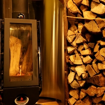 カフェ 暖炉